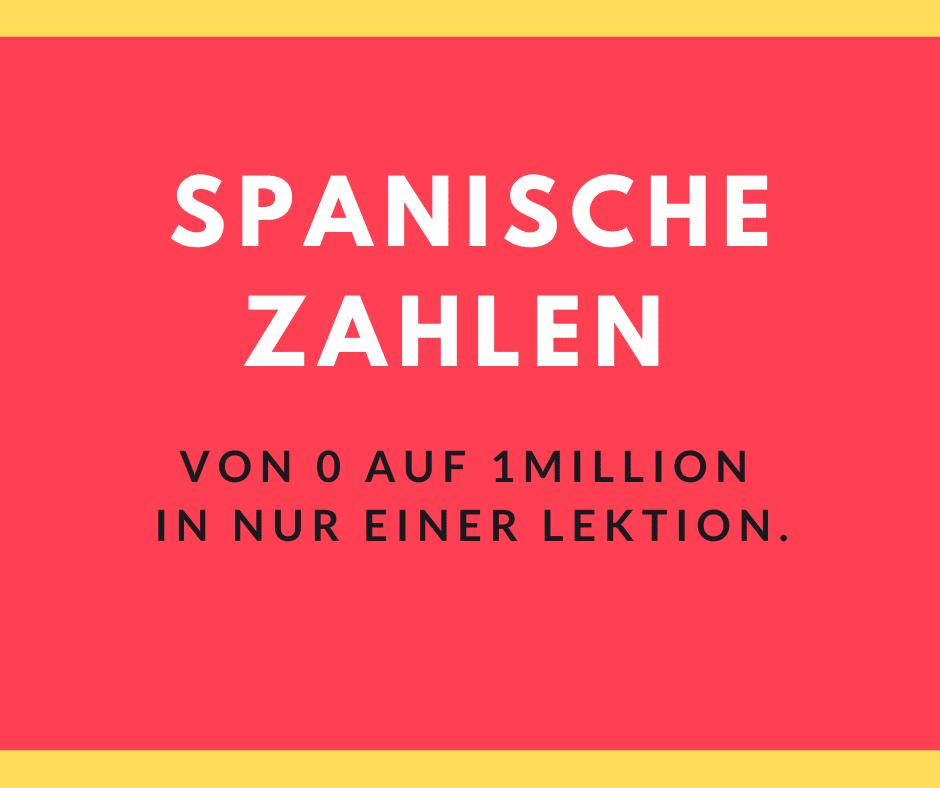 Spanische Zahlen