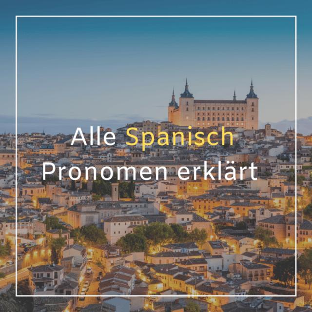 Personalpronomen Spanisch
